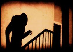 """Nosferatu coming to talk with you about his childhood.  (Max Schreck as Nosferatu (1922).  Photo from Wikipedia, Public Domain"
